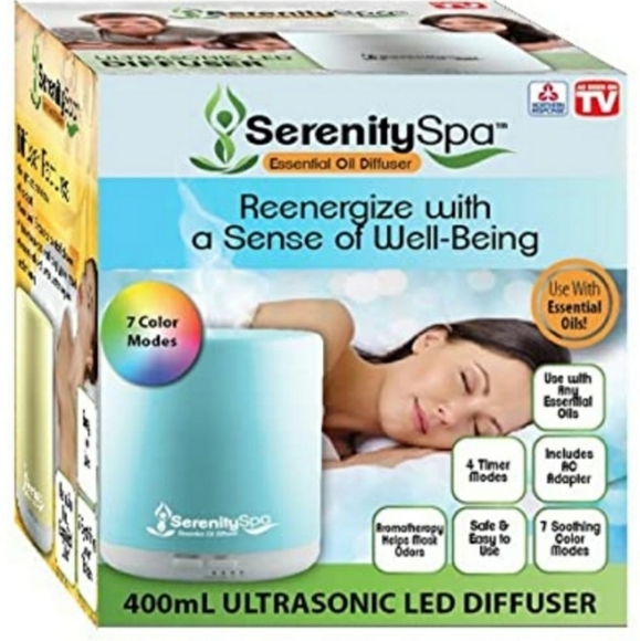 Serenity Spa Essential Oil Diffuser Brand New